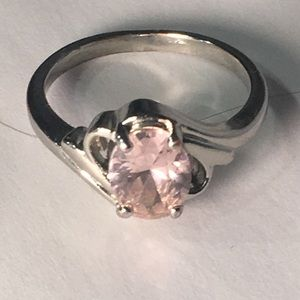 4 for $12: Silver Tone Ring with pink stone